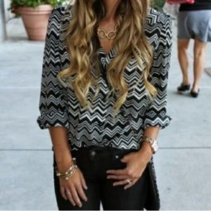Missoni for Target Chevron Zig Zag Button Up Top